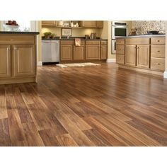 Shop Style Selections 7.59-in W x 4.23-ft L Fireside Oak Embossed Laminate Wood Planks at Lowes.com