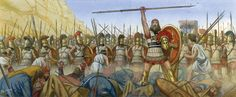 Thermopylae The Spartans push forward as King Xerxes watches in the distance…