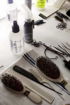 Packing hundreds of bottles of product, pins and more into kits for our stylists this week in preparation for #NYFW.