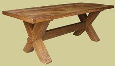 X-leg medieval table heavy oak c.1600