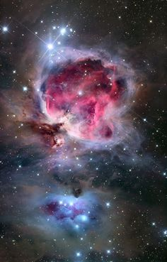The #OrionNebula is in fact part of a much larger nebula that is known as the Orion Molecular Cloud Complex, which extends throughout the constellation of Orion and includes Barnard's Loop, the Horsehead Nebula, M43, M78 and the Flame Nebula. - Astrophotography by Roth Ritter - http://www.darkatmospheres.com/astro/gallery/nebulae/enlarge.php?fileBase=nebulae_10