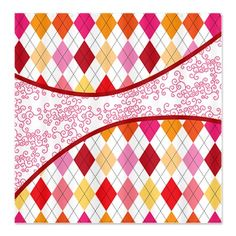 Argyle and Old Lace Sherbert Shower Curtain. Click to see this design on more products.