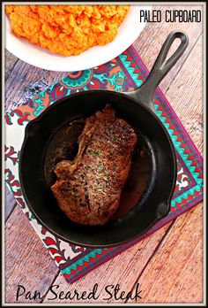 Paleo Pan-Seared Steak - www.PaleoCupboard.com