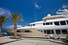 Luxury Yacht close-up -