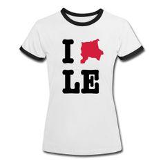 I Love LE (Leipzig) Girly contrast shirt - http://iloveberlin.spreadshirt.de/i-love-leipzig-college-shirt-A22186355