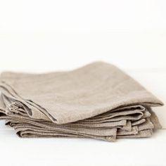 Linen napkins set of 12 grey napkins organic napkin cloths