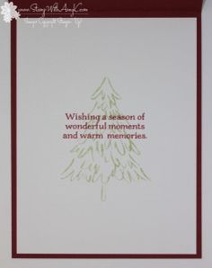 Stampin' Up! Peaceful Pines CAS Holiday Card   Stamp With Amy K