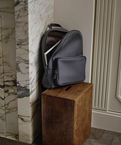 "Introducing the Berluti ""Time Off"" backpack in Vitello Opaco grey leather from our SS16 Collection"