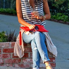 nautical stripes x red