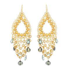 Pyrite Chandelier Earrings, Wendy Mink