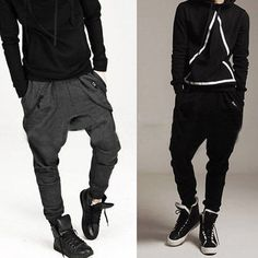 Newly Korean Mens Casual Sport Hip Hop Trousers Baggy Jogging Harem Sweat Pants #New #CasualPants