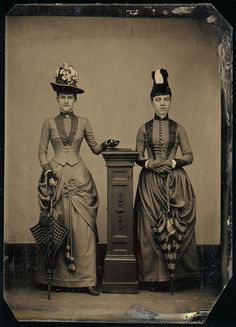 1870 [Two Women] American. Medium: Tintype