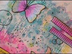 art journal page - freedom - YouTube