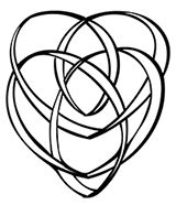The Celtic Motherhood Knot symbol, aka the Celtic Mother's Knot, shows two hearts that are intertwined continuously in a knot such that the lines do not seem to have any openings.The children can be represented in the symbol by placing dots at any place inside or outside the knot, with one dot signifying one child. The symbol is associated with the Madonna and Child and represents the deep, unbreakable, eternal and enduring bond of love shared by a mother and her children.