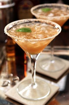 Maple Margarita with Tequila, whiskey, maple syrup and lime juice.
