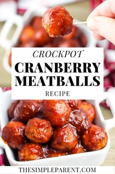 Crockpot Cranberry Meatballs are the Perfect Holiday Appetizer Crockpot Cranberry Meatballs Recipe. Add a holiday twist to easy Crockpot Meatballs! Meatball Recipes, Meat Recipes, Appetizer Recipes, Healthy Recipes, Appetizer Crockpot, Pizza Recipes, Crockpot Recipes, Cookie Recipes, Food Network