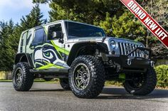 Totally Custom 2011 Jeep Wrangler Hawks Edition only at NWMSRocks.com