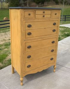Chalk Painted Chest of Drawers/Dresser in Annie Sloan Chalk Paint