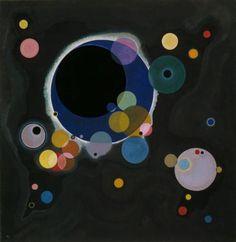 カンディンスキー  ≪ いくつかの円 ≫ 1926 |140 x 140 cm | グッゲンハイム美術館、ニューヨーク