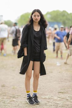 The 28 Best Looks From Gov Ball #refinery29  http://www.refinery29.com/governors-ball-pictures#slide24  An all-black look that still works for a summer weekend.