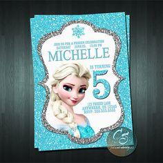 Divertida invitación para una celebración de cumpleaños inspirada en la película de Disney Frozen