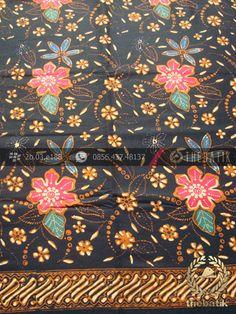 Kain Batik Coletan Pekalongan Motif Kembang | Indonesian Batik Fabric Pattern Design http://thebatik.co.id/kain-batik-bahan/