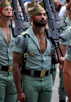 The Spanish Foreign Legion Dress Uniform. This is delightful for SO many reasons. :)