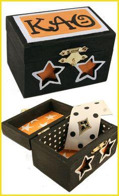 Pin box - love the idea of putting a ribbon inside!