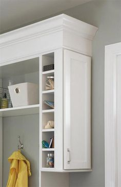 Aristokraft Cabinet Hardware with Handle, Chrome Hook, Storage, Wire Basket and Shelves