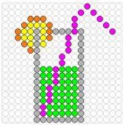 Deze kralenplank en vele andere in het thema zomer kun je vinden op de website van Juf Milou. Pixel Pattern, School Themes, Paper Piecing, Perler Beads, Beading Patterns, Pixel Art, Quilt Patterns, Origami, Art Projects