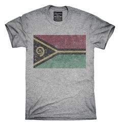 Retro Vintage Vanuatu Flag T-Shirts, Hoodies, Tank Tops