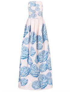 Floral Taffeta Spring Garden Gown Katie Ermilio