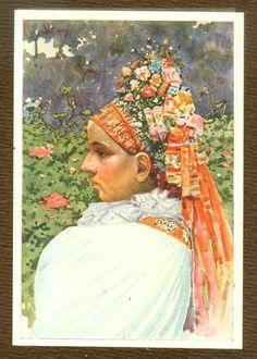 1920' book Joza Uprika 25 color plates Slovak Moravia Kroj folk Costume blouse