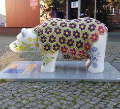 African flowers #crochet in Slupsk (PL) #urbanknitting