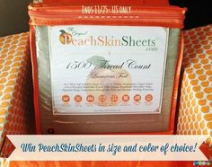 #Win PeachSkinSheets in size and color of choice! - ends 11/25 US Only