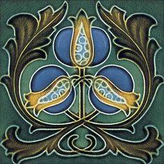 """Art Nouveau Reproduction Ceramic tile 6"""" #54 de Imagesdesign en Etsy"""