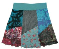 Plus Size Butterfly Boho Chic Hippie Skirt Women's 2X 3X upcycled clothing from Twinkle