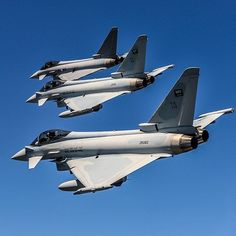 Royal Saudi Air Force and Austrian Air Force Eurofighter Typhoon fighter jets #military #aircraft #armedforces #airforce #aviation #fighterjet #saudi #austria #eurofighter #typhoon by globalair