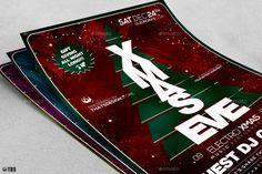 Christmas Eve Flyer Template V6 #Eve, #Christmas, #Flyer, #Template Christmas Flyer, Christmas Eve, Xmas, Free Business Card Design, Event Flyers, Flyer Template, Color Change, Photoshop, Coding
