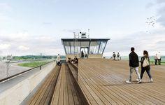 :mlzd (2016): Öffnung des Flughafengebäudes Tempelhof - Tower THF, Berlin (DE), via competitionline.com