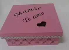 Caixa decorada Dia das Mães