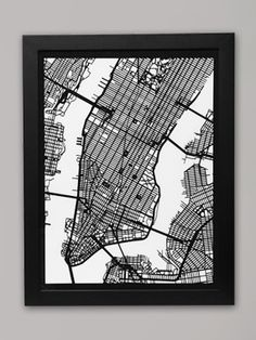 New York City Laser Cut Map by Dan Linden #Map #NYC #Laser_Cut