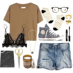 Geek Chic by mooreaseal on Polyvore featuring Madewell, Isabel Marant, Converse, Lord & Berry, gold, black, brown and mooreaseal