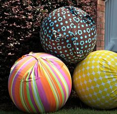 Awesome birth ball covers. I have the bright colored striped one. :)