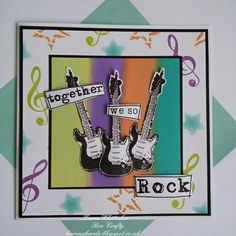 The fab Guitar and music stamps by Bee Crafty Distress Oxides, Treble Clef, Rock Music, Free Gifts, Stamping, Bee, Creativity, Guitar, Gift Sets