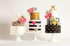 Золотые с блестками и черно-белые торты на свадьбе - The-wedding.ru