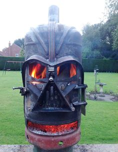 Darth Wader Fire Pit - could probably cook pizza in this one!
