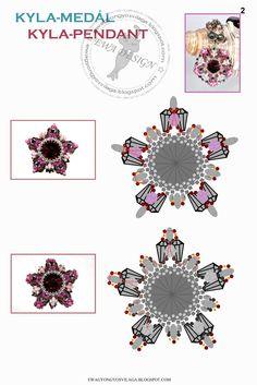 KYLA Pendant - FREE Pattern by Ewa Design. Page 2 of 3