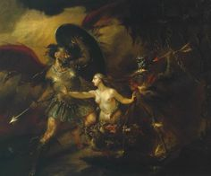 Satan, Sin And Death (a Scene From Milton's `paradise Lost') Artwork By William Hogarth Oil Painting & Art Prints On Canvas For Sale William Hogarth, Milton Paradise Lost, Oil On Canvas, Canvas Art, Google Art Project, Tate Gallery, Free Art Prints, My Demons, Angels