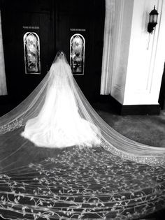 Hand Embroidered Cathedral Length Veil